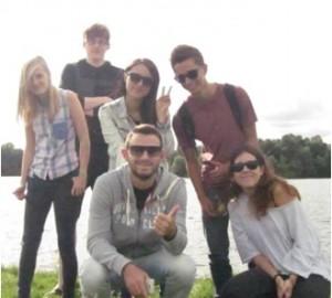 Matt Harris with friends