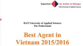 INEC – công ty tư vấn du học Hà Lan trở thành Đại diện tuyển sinh xuất sắc nhất của Đại học HAN